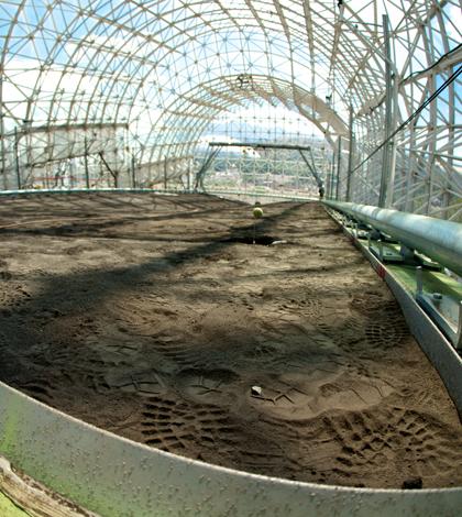 Land Evolution Observatory hillslope (Credit: Paul M. Ingram/Biosphere 2)