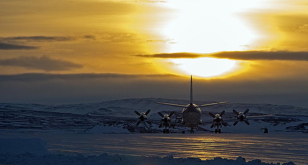 IceBridge P-3B Aircraft (Credit: NASA)