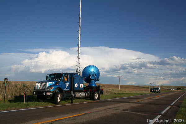 A Doppler on Wheels unit (Credit: Tim Marshall/Center for Severe Weather Research)