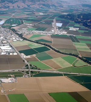 Aerial view of Watsonville, Calif., in the Salinas Valley (Credit: U.S. Army Corps of Engineers, via Wikimedia Commons)