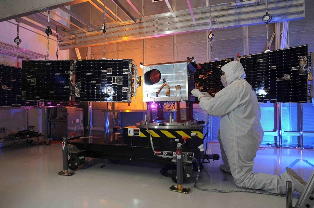 The Total Irradiance Monitor is part of the Total Solar Irradiance Calibration Transfer Experiment, assembled at Ball Aerospace (Credit: Ball Aerospace)