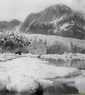 Pedersen Glacier before retreat (Credit: NASA/JPL)