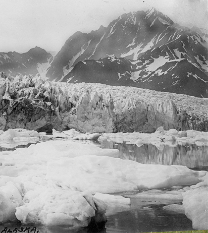 Pedersen Glacier before retreat (Credit: NASA/JPL)