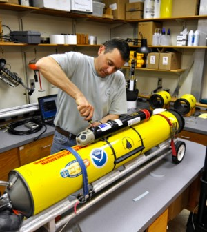 Specially equipped gliders helped scientists with whale monitoring (Credit: Nick Woods/Woods Hole Oceanographic Institution)