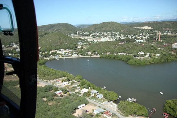 Guanica Bay, on the southwest corner of Puerto Rico, from the air (Credit: NOAA)