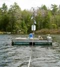 The Lake Lacawac monitoring platform (Credit: Bruce Hargreaves)