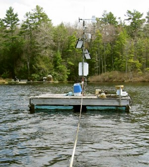 The Lake Lacawac monitoring platform (Credit: Bruce Hargreaves)