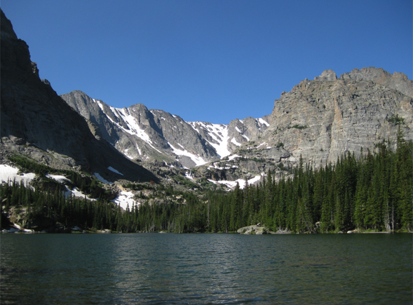 Loch Vale in Rocky Mountain National Park (Credit: USGS)