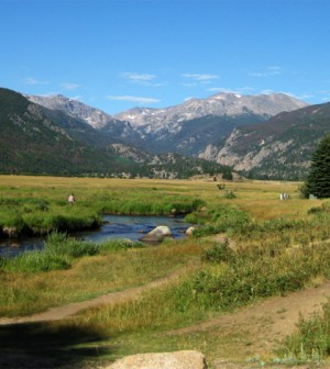 The Big Thompson River flows through Rocky Mountain National Park (Credit: USGS)