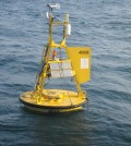 A National Data Buoy Center weather buoy near Grays Reef, Georgia (Credit: NOAA)