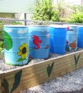 Rain barrels for the community garden (Credit: eDesign Dynamics)