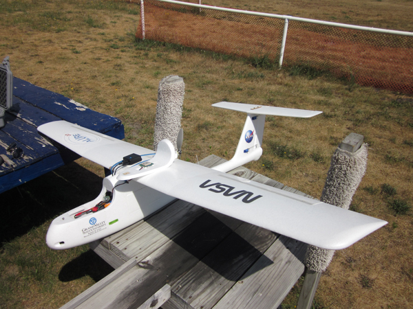 The Annis Water Resources Institute ALURE (Aerial Land Use Research Experiment) UAV (Credit: John Koches)