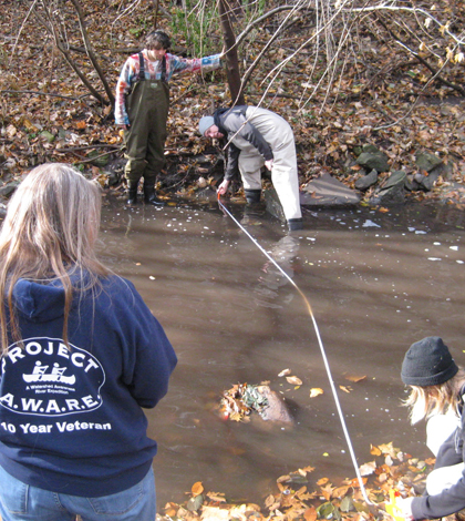 Students were trained in Iowater protocol in the fall (Credit: Hannah Julich)
