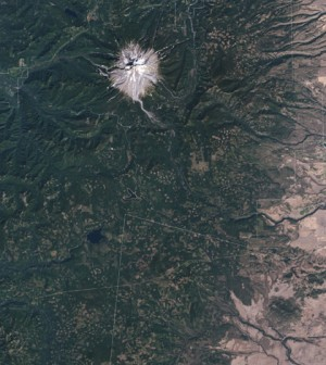 Natural-color image of part of the Mt. Hood National Forest (Credit: NASA Earth Observatory)