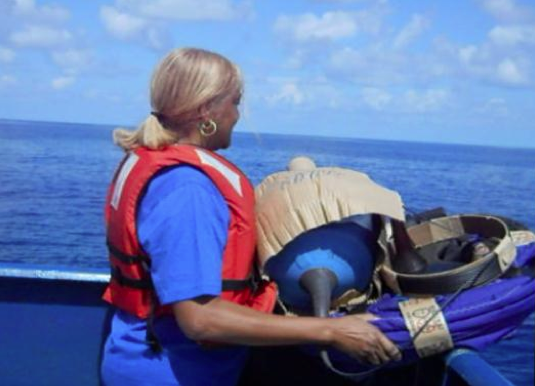 Hams deployed a drifter buoy in the Indian Ocean as part of the NOAA Adopt a Drifter program