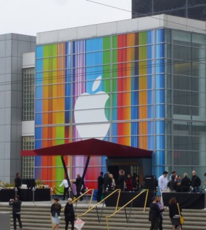 Yerba Buena Center for the Arts while hosting the iPhone 5 keynote (Credit: textlad, via Wikimedia Commons)