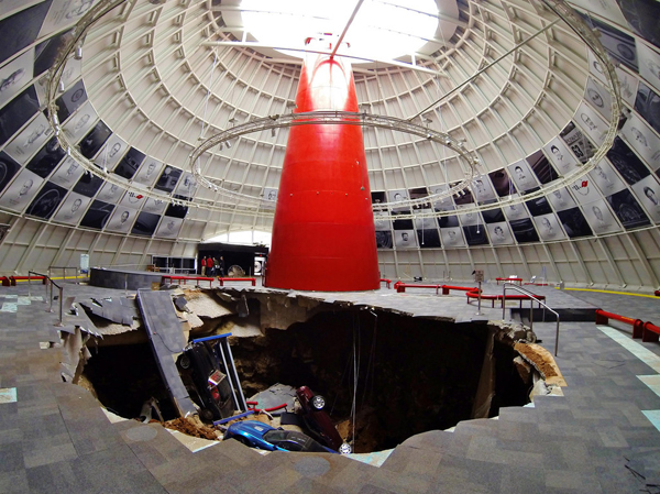 National Corvette Museum >> Environmental Monitor Karst Scientists Monitor National Corvette