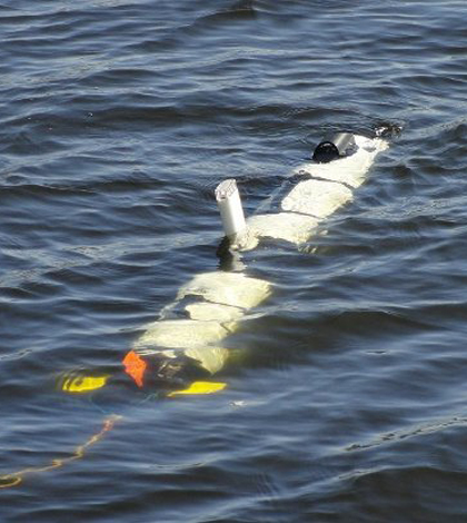 The IVER3 autonomous underwater vehicle that will inspect Line 5 under the Straits of Mackinac (Credit: Michigan Technical University)