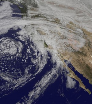 The February storm dropped inches of rain on drought-stricken California (Credit: NASA's Goddard Space Flight Center)