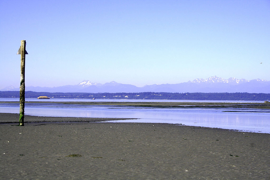 Low tide on Admiralty Inlet (Credit: Iwanafish, via Flickr)