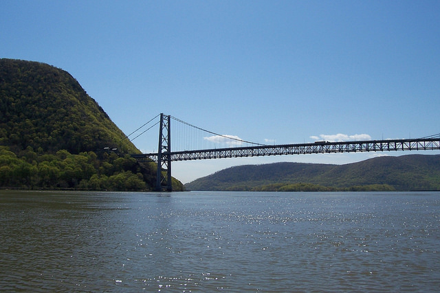 The Hudson River at  Bear Mountain Bridge (Credit: Cary Institute of Ecosystem Studies)