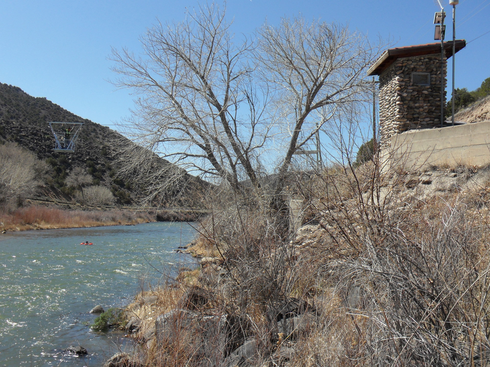 The first USGS stream gauge, at Embudo, N.M., which just turned 125 years old. (Credit: Mark Gunn/USGS)