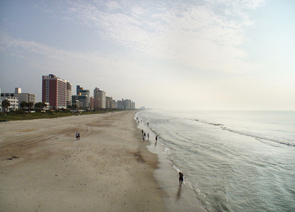 Myrtle Beach occupies a stretch of the Grand Strand. (Credit: Phil Guest, via Wikimedia Commons)