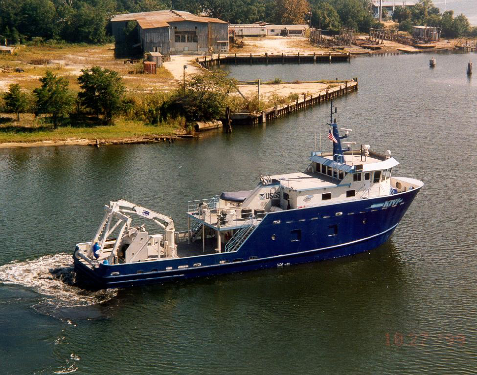 The USGS research vessel Kiyi, named after a fish sampled in the study, collected many of the fish samples used in the analysis. (Credit: USACE)