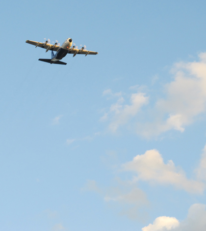 The C-130 research plane used in the FRAPPE study (Credit: Barbara Flocke)