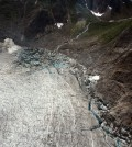 An emptied Suicide Basin near Mendenhall Glacier (Credit: National Weather Service)