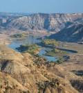 The Missouri River flowing through Upper Missouri Breaks National Monument (Credit: Bureau of Land Management, via Flickr)