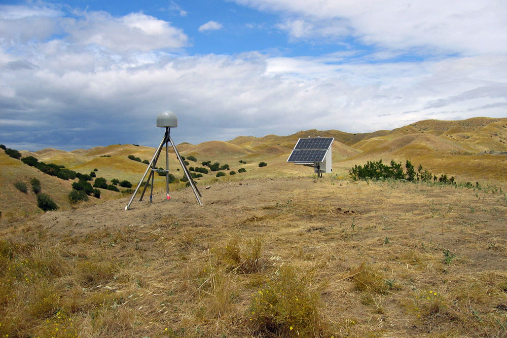 Data from this GPS station near Coalinga, California, were used in the study (Credit: Scripps Institution of Oceanography)
