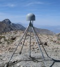 A GPS station in the Inyo Mountains near Lone Pine, California, used to measure uplift (Credit: Shawn Lawrence/UNAVCO, via Flickr)