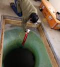 A student tests the Micro-Submersible Lake Exploration Device used to access Antarctic subglacial Lake Whillans (Credit: NASA/JPL-Caltech)