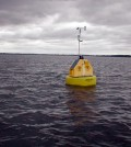 One of the Finger Lakes Institute's water quality data buoys (Credit: Finger Lakes Institute)