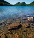 Jordan Pond in Acadian National Park shows off its famous water clarity (Credit: John Buie, via Flickr/CC BY 2.0)