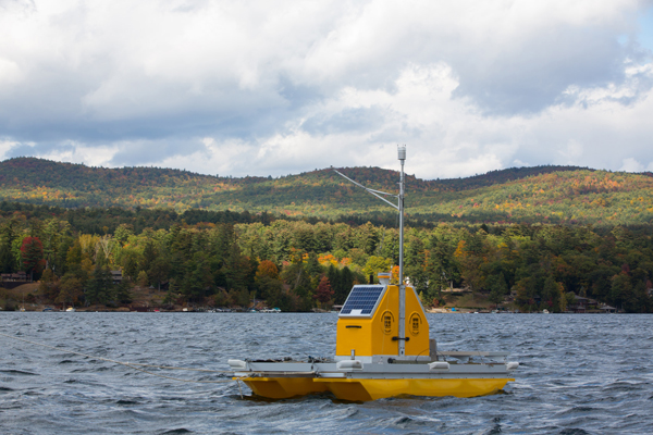 One of the five water quality profilers planned for Lake George. (Credit: Rensselaer Polytechnic Institute)