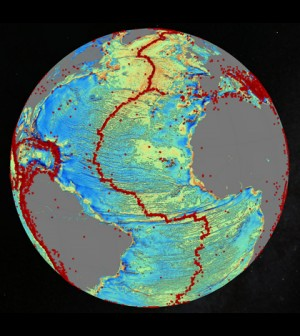 A marine gravity model of the North Atlantic. (Credit: David Sandwell, Scripps Institution of Oceanography, UC San Diego)