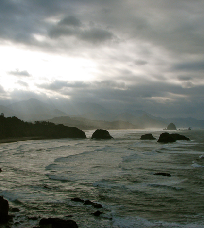 The Oregon coast as seen from Ecola State Park (Credit: Jeff Gunn, via Flickr/CC BY 2.0)