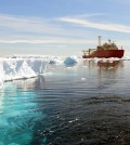 UW's profilers will monitor the ice-filled waters of the Southern Ocean, which can be dangerous for research vessels (Credit: Oscar Schofield/Rutgers University)