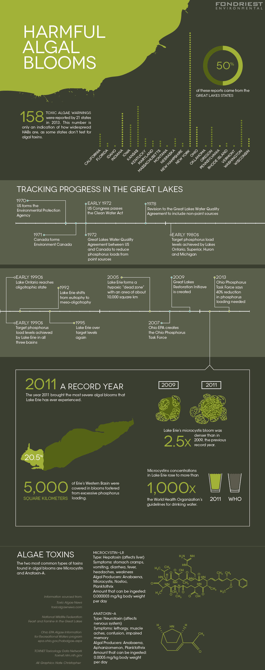 Algal blooms infographic (Credit: Nate Christopher)