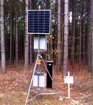 The continuous groundwater monitoring stations are also equipped for data telemetry. (Credit: Graeme MacDonald)