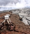 A Kilauea lava flow creeping dangerously close to USGS monitoring equipment. (Credit: USGS)