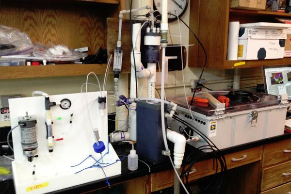 A Burke-O-Lator in Alaska provides ocean chemistry data. (Credit: Burke Hales / Oregon State University)