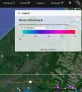 Screenshot of the AOOS real-time sensor map. (Credit: AOOS)