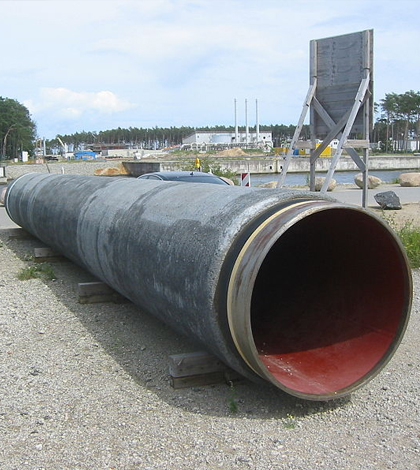 A piece of the Nord Stream pipeline. (Credit: Assenmacher via Wikimedia Commons/CC BY 3.0