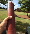 The wandering sonde safely in hand after Meiman picked it up in Mobile, Alabama. (Credit: Joe Meiman)