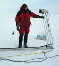 Engineers designed the Spectral Radiation Buoy to withstand harsh conditions throughout its deployment. (Credit: Norwegian Polar Institute)