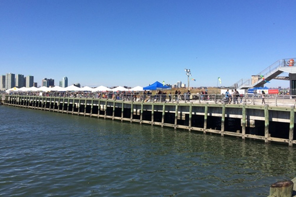 Hudson River Park's Pier 26, and future home of the Estuarium project. (Credit: Beacon Institute)