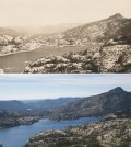 A photo of French Lake and English Mount in the 1920s (Credit: Albert Wieslander) followed by a view of the same area in 2014 (Credit: Joyce Gross)